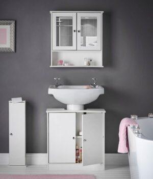 Gatsby white bathroom set