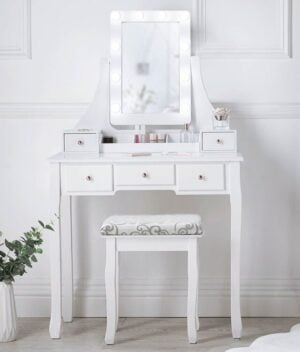 Arianna Deluxe White Dressing Table