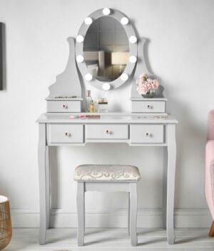 Ruby Rozanna Grey Dressing Table