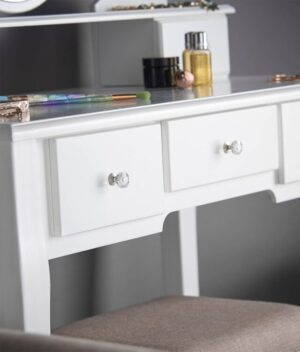 Luna White Dressing Table