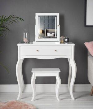 Sorrento 3 piece white dressing table