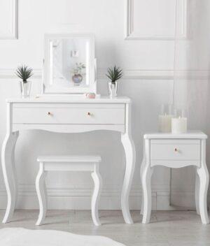 Sorrento 4 piece white dressing table