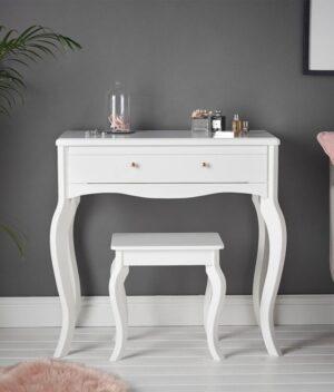 Sorrento 2 piece white dressing table