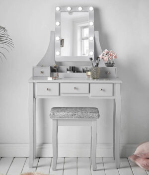 Arianna Grey Dressing Table