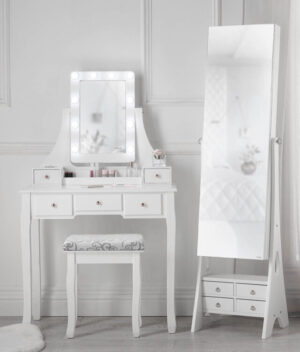 Dressing Table and Jewellery Cabinet Mirror