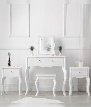Sorrento 5 piece white dressing table