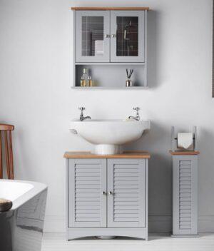 Atlanta grey bathroom set
