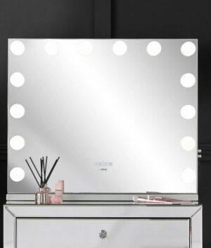 Natalia silver mirror