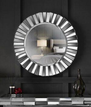 Knightsbridge round mirror silver