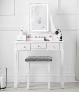 Savannah white dressing table