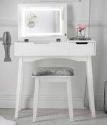 Selena white dressing table