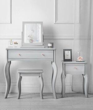 Sorrento 4 piece grey dressing table