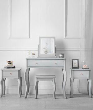 Sorrento 5 piece grey dressing table