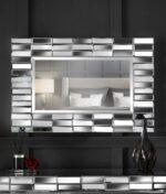 Knightsbridge rectangle mirror silver